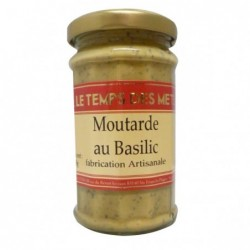MOUTARDE BASILIC 200G